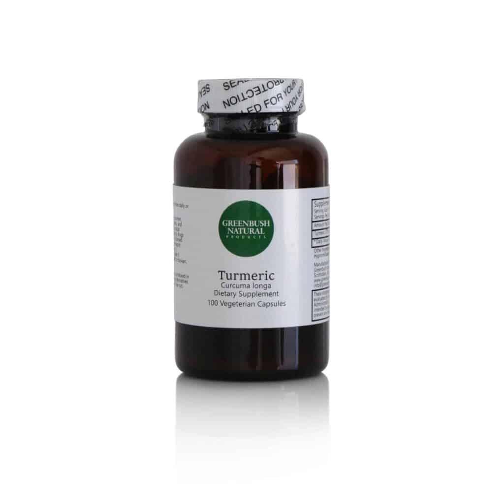 Turmeric Vegetarian Capsules - 575mg per dose - 100 Count - Greenbush Natural Products